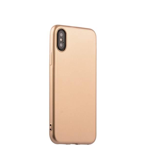 Чехол-накладка силиконовый J-case Shiny Glazed Series 0.5mm для iPhone X (5.8) Jet Gold Золотистый