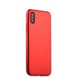 Чехол-накладка силиконовый J-case Shiny Glazed Series 0.5mm для iPhone X (5.8) Jet Red Красный