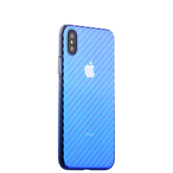 Чехол-накладка пластиковый J-case Colorful Fashion Series 0.5mm для iPhone X (5.8) Голубой оттенок