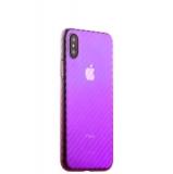 Чехол-накладка пластиковый J-case Colorful Fashion Series 0.5mm для iPhone X (5.8) Розовый оттенок