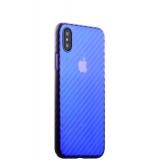 Пластиковый чехол - накладка для iPhone X J - Case Colorful Fashion Series (0.5 мм), цвет голубой