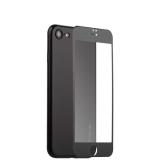 Супертонкий силиконовый чехол - накладка для iPhone 8 Coblue Slim Series PP Case & Glass (2в1), цвет черный