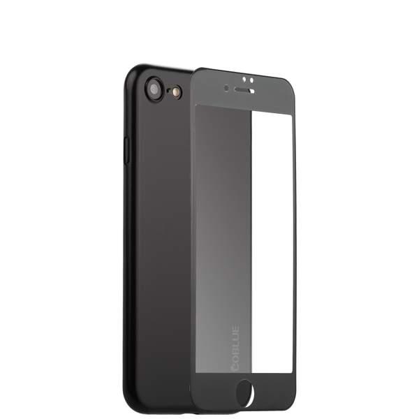 Чехол-накладка супертонкая Coblue Slim Series PP Case & Glass (2в1) для iPhone 8 (4.7) Черный