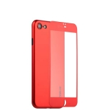 Супертонкий силиконовый чехол - накладка для iPhone 8 Coblue Slim Series PP Case & Glass (2в1), цвет Красный