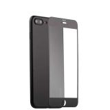 Супертонкий силиконовый чехол - накладка для iPhone 8 Plus Coblue Slim Series PP Case & Glass (2в1), цвет черный