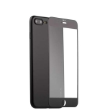 Супертонкий силиконовый чехол - накладка для iPhone 7 Plus Coblue Slim Series PP Case & Glass (2в1), цвет черный