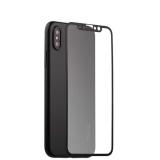 Супертонкий силиконовый чехол - накладка для iPhone XS Coblue Slim Series PP Case & Glass (2в1), цвет черный