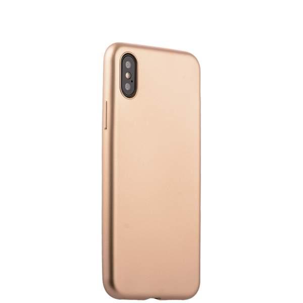 Чехол-накладка силиконовый J-case Delicate Series Matt 0.5mm для iPhone X (5.8) Золотистый