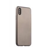 Чехол-накладка силиконовый J-case Delicate Series Matt 0.5mm для iPhone X (5.8) Графитовый