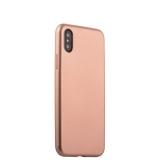 Силиконовый чехол - накладка для iPhone X J - Case Delicate Series Matt (0.5 мм), цвет розовое золото