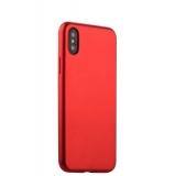 Чехол-накладка силиконовый J-case Delicate Series Matt 0.5mm для iPhone X (5.8) Красный