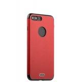 Силиконовый чехол - накладка для iPhone 7 Plus J - Case Jack Series (с магнитом), цвет красный
