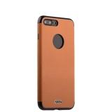 Силиконовый чехол - накладка для iPhone 8 Plus J - Case Jack Series (с магнитом), цвет светло - коричневый