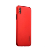 Супертонкий силиконовый чехол - накладка для iPhone XS Coblue Slim Series PP Case & Glass (2в1), цвет красный