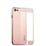 Супертонкий силиконовый чехол - накладка для iPhone 8 Coblue Slim Series PP Case & Glass (2в1), цвет розовый