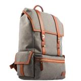 Рюкзак для MacBook iCarer Leather and Fabric Durable Travel Hiking Backpack, цвет серый