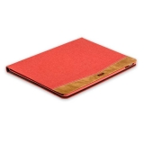 Тканевый чехол книжка для iPad Pro 10.5 XOOMZ Simple Fabric Material Made Folio Cover Erudition Series, цвет красный