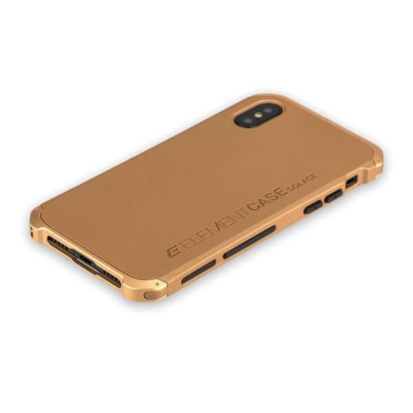 Чехол-накладка Element Case (AL & Pl) для Apple iPhone XS (5.8) Solace Золотистый (золотистый ободок)