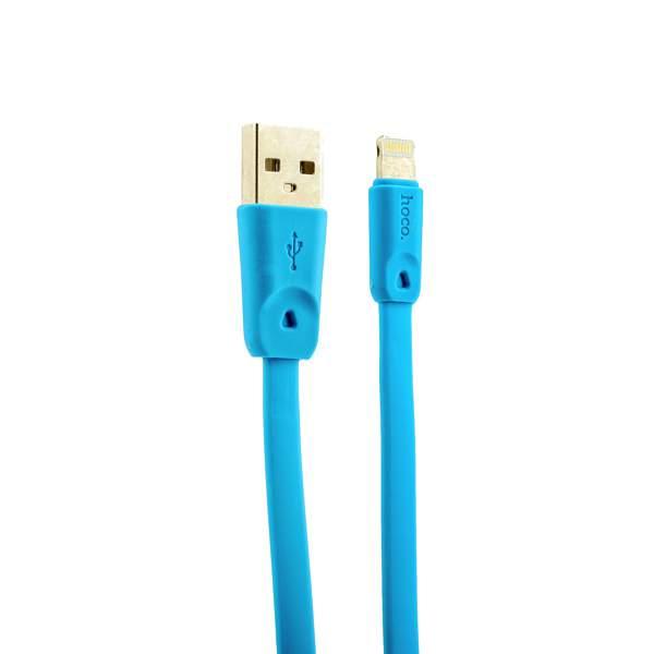 Lightning кабель USB быстрой зарядки Hoco X9 High speed Lightning (1.0 м), цвет голубой