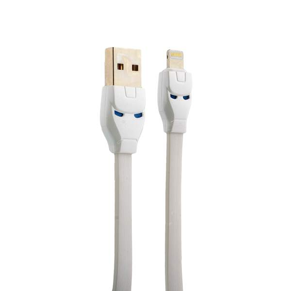 Lightning кабель USB Hoco U14 Steel man Lightning (1.2 м), цвет белый