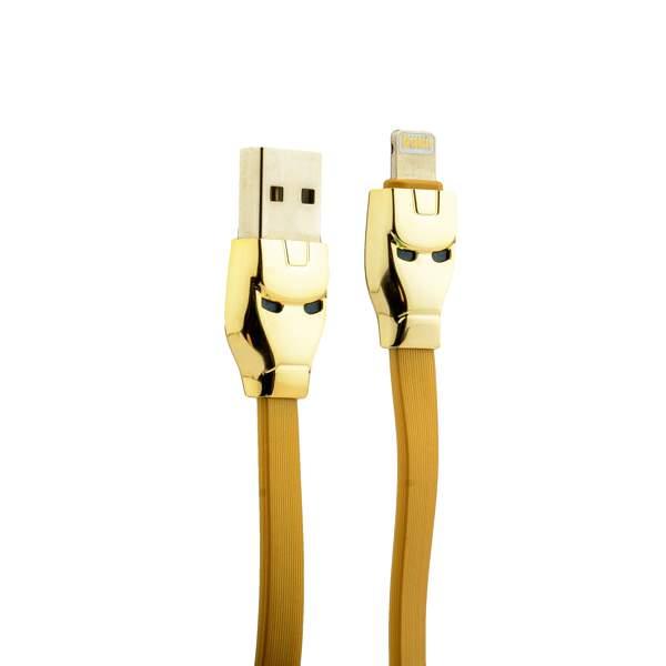Lightning кабель USB Hoco U14 Steel man Lightning (1.2 м), цвет золотистый