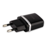 Сетевое зарядное устройство с кабелем MicroUSB Hoco C12 Smart dual USB charger set (2USB: 5V max 2.4A), цвет черный