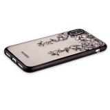 Накладка силиконовая Beckberg Monsoon series для iPhone XS (5.8) со стразами Swarovski вид 3 Черный