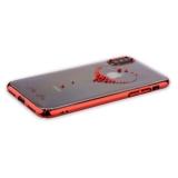 Пластиковый чехол - накладка для iPhone X KINGXBAR со стразами Swarovski 49F, цвет красный Сердце