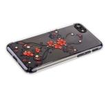 Пластиковый чехол - накладка для iPhone 8 KINGXBAR со стразами Swarovski 49F, цвет черный Феникс