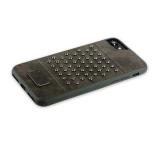 Кожаный чехол - накладка для iPhone 8 Santa Barbara Polo & Racquet Club Staccato Series, цвет серый