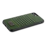 Кожаный чехол - накладка для iPhone 7 Santa Barbara Polo & Racquet Club Staccato Series,цвет темно - зеленый