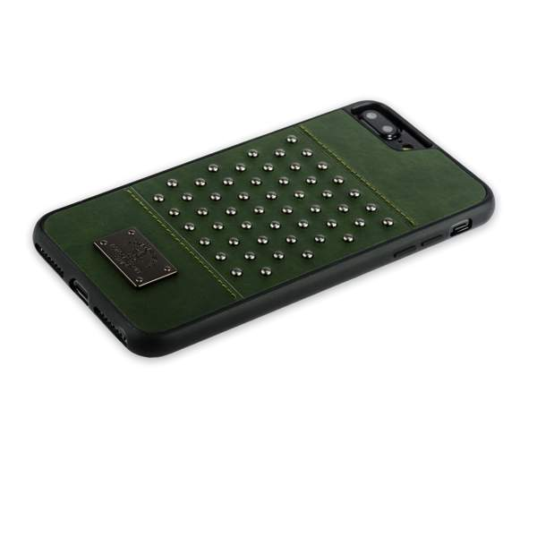 Накладка кожаная Santa Barbara Polo & Racquet Club Staccato Series для iPhone 8 Plus (5.5) Темно-зеленая