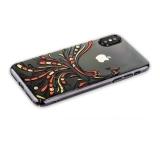 Пластиковый чехол - накладка для iPhone XS KINGXBAR со стразами Swarovski 49F, цвет черный Полет