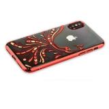 Пластиковый чехол - накладка для iPhone X KINGXBAR со стразами Swarovski 49F, цвет красный Полет
