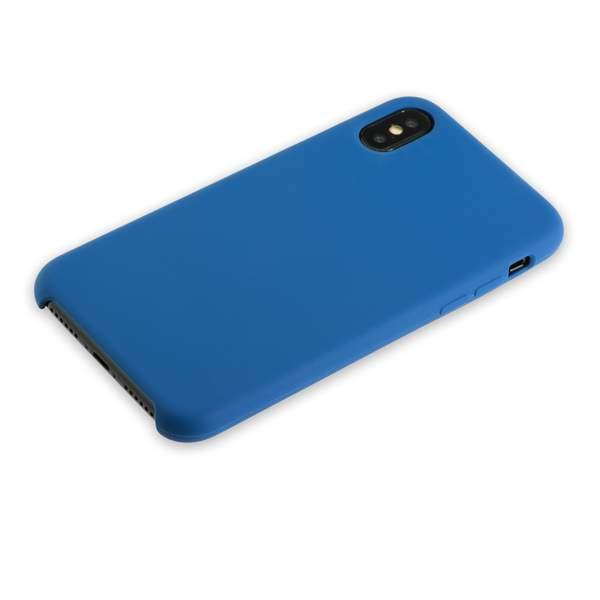 Чехол-накладка силиконовый Hoco Silicone Case для iPhone X (5.8) Темно синий
