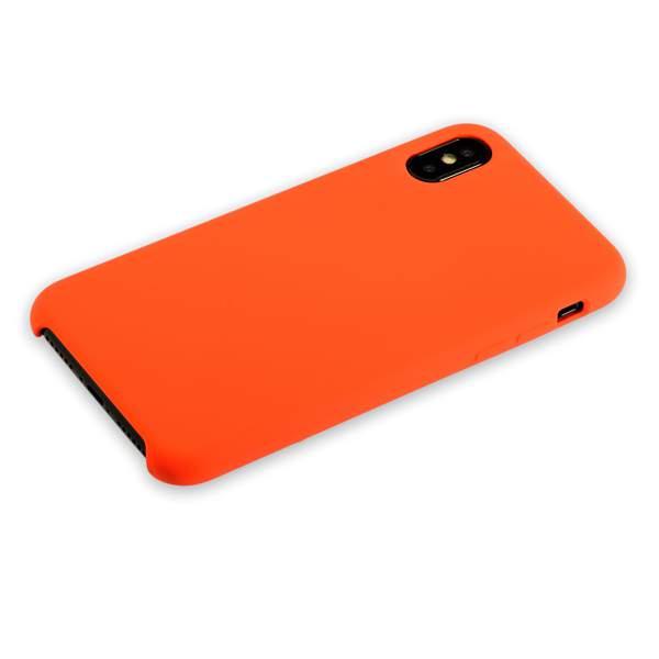 Чехол-накладка силиконовый Hoco Silicone Case для iPhone X (5.8) Оранжевый
