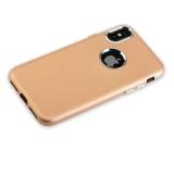 Чехол-накладка силиконовый J-case Metal touch Series Matt 0.5mm для iPhone X (5.8) Золотистый
