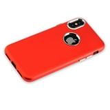Силиконовый чехол - накладка для iPhone X J - Case Metal touch Series Matt (0.5 мм), цвет красный