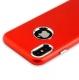 Чехол-накладка силиконовый J-case Metal touch Series Matt 0.5mm для iPhone X (5.8) Красный
