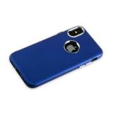 Силиконовый чехол - накладка для iPhone X J - Case Metal touch Series Matt (0.5 мм), цвет синий