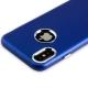 Чехол-накладка силиконовый J-case Metal touch Series Matt 0.5mm для iPhone X (5.8) Синий