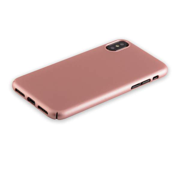 Чехол-накладка пластик Soft touch Deppa Air Case D-83323 для iPhone X (5.8) 1 мм Розовое золото