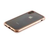 Силиконовый чехол - накладка для iPhone XS Deppa Gel Plus Case D - 85337 (0.9 мм), цвет золотистый / матовый борт
