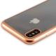 Чехол-накладка силикон Deppa Gel Plus Case D-85337 для iPhone X (5.8) 0.9 мм Золотистый матовый борт
