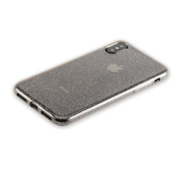 Чехол-накладка силикон Deppa Chic Case с блестками D-85339 для iPhone X (5.8) 0.8 мм Черный