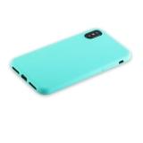 Силиконовый чехол - накладка для iPhone XS Anycase TPU A - 140051 (1.0 мм), цвет матовый мятный