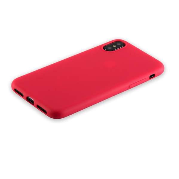 Чехол-накладка силикон Anycase TPU A-140050 для iPhone X (5.8) 1.0 мм матовый Красный