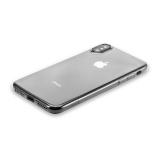 Силиконовый чехол - накладка для iPhone X Hoco Light Series, цвет дымчатый