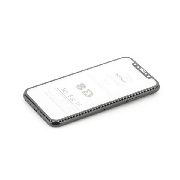 Стекло защитное 8D для iPhone 11 Pro/ XS/ X (5.8) Black