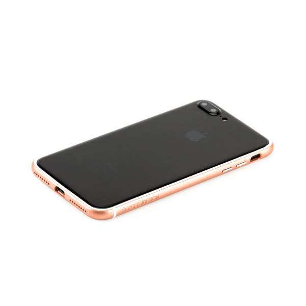 Бампер поликарбонат с силиконом Totu Evoque Series для Apple iPhone 8 Plus (5.5) Розовое золото